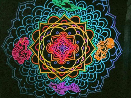 decoracao festa rave : decoracao festa rave:Mandala Animais