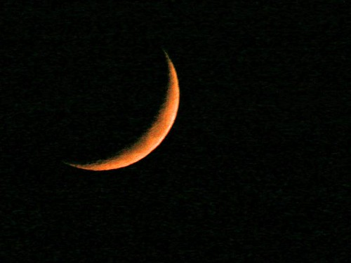 Waxing Setting Moon - 25 Oct 2006