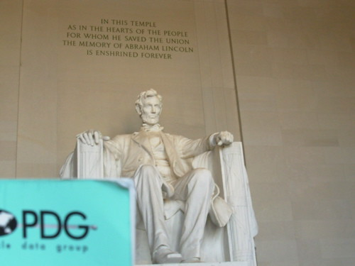 PDG at the Lincoln Memorial
