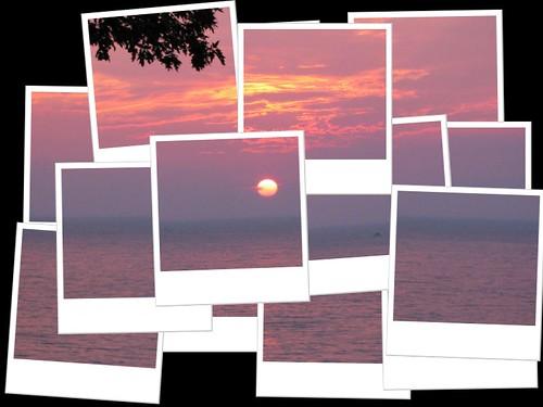 sunset lake fdsflickrtoys erie hockneyized