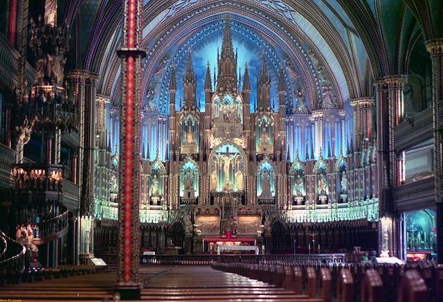 Notre-Dame Basilica Interior - Montreal 1976