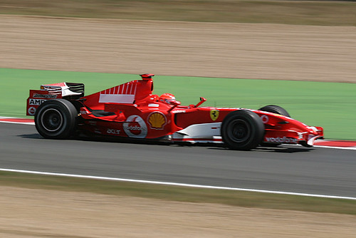 Michael Schumacher (entering Imola)