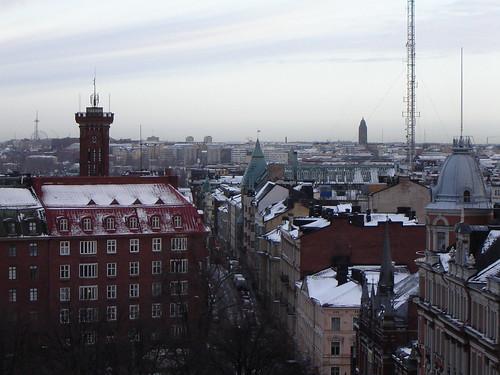 Helsinki aamulla marraskuussa