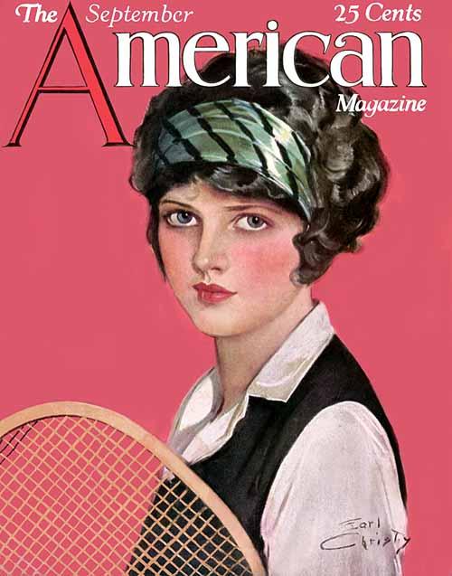 The Flapper Girl Earl Christy American Magazine 1920s