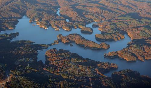 blue autumn lake fall sc nature landscape flying scenery aviation herbst scenic southcarolina aerial ridge oconee oconeecounty keowee lakekeowee