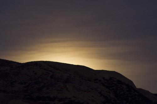 california moon clouds landscape twilight moonrise