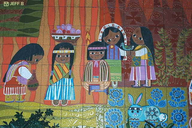 Contemporary hotel 39 s mary blair mural flickr photo for Contemporary resort mural