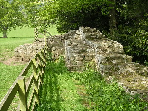 The eastern 'wing wall', looking W