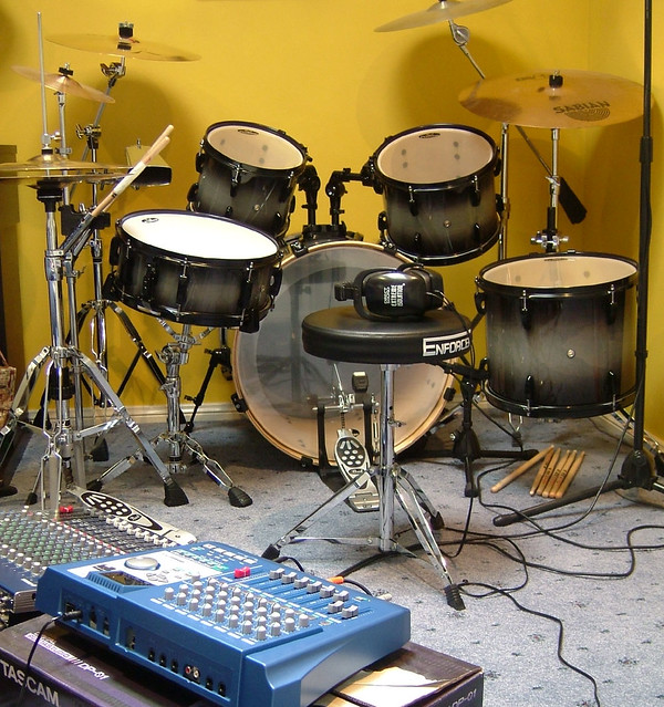 My drumkit, mixer and MTR