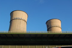 industry, cooling tower, power station,