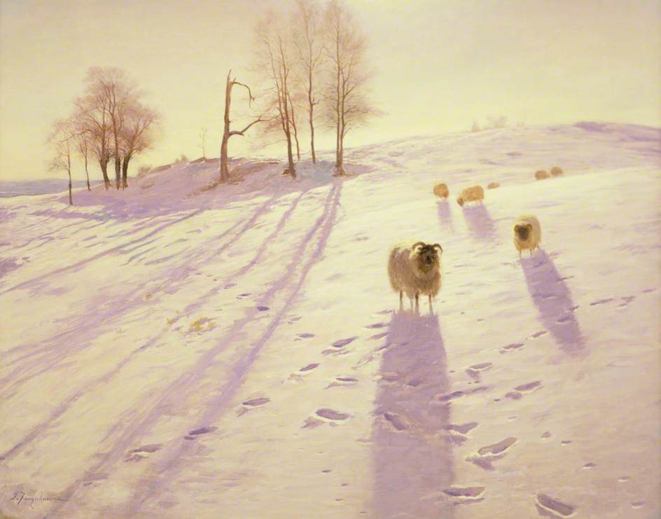 When Snow the Pasture Sheets by Joseph Farquharson