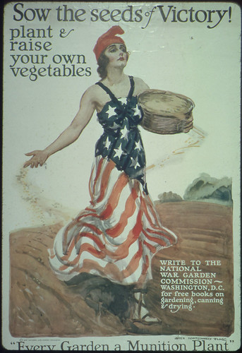 Sow the Seeds of Victory! Plant and Raise Your Own Vegetables. Write to the National War Garden Commission, Washington, D.C., for Free Books on Gardening, Canning, and Drying.