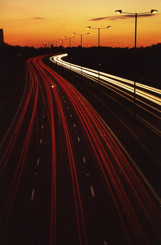 road longexposure travel sunset red white holiday blur car 35mm motorway streak 30faves30comments300views
