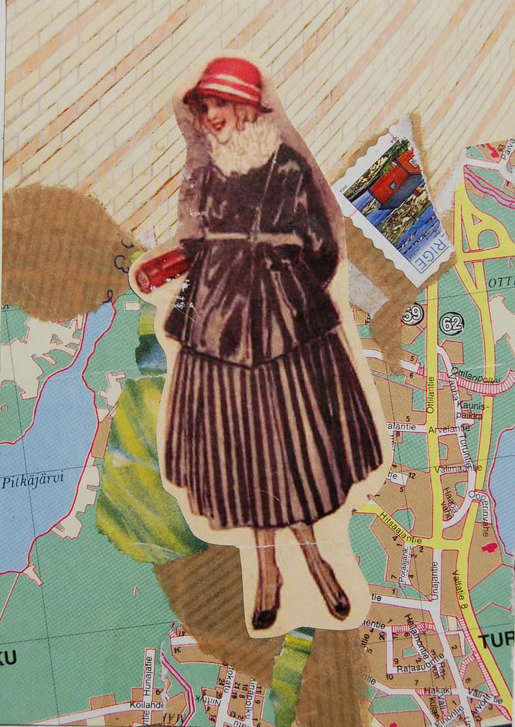Collage postcard