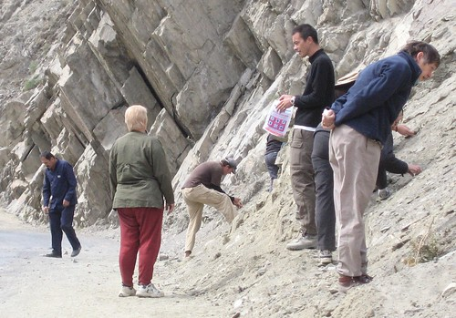 Searching for garnets on the Karakoram Highway