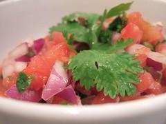 pico de gallo, ceviche, salad, vegetable, plant, produce, fruit, food, dish, cuisine,