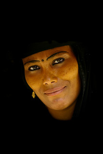 Smiling unveiled woman in Yemen