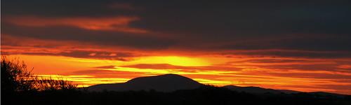 panorama sunrise scotland tinto