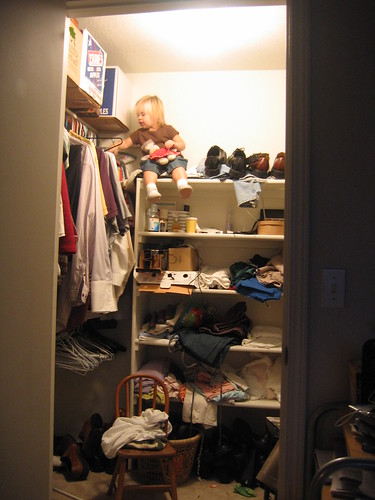 Ignore the messy closet,