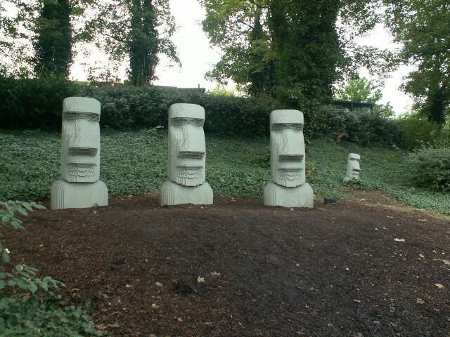 Easter Island Heads Garden Ornaments