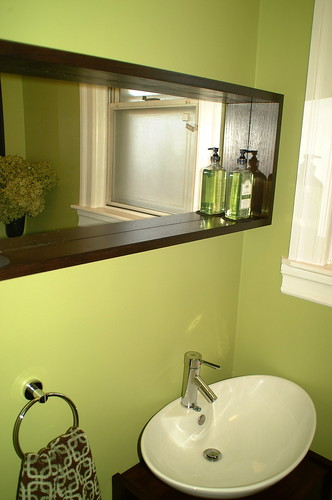 Spring green dark wood bathroom designs for Dark wood bathroom designs