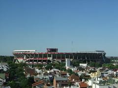 Cancha del glorioso Club Atlético River Plate, vista desde mi laburo..