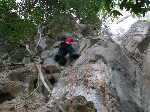 Getting into some serious climbing