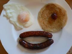 meal, breakfast, boudin, food, dish, cuisine, bratwurst,