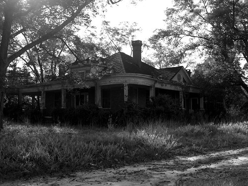 Abandoned house I (b&w) by existential hero