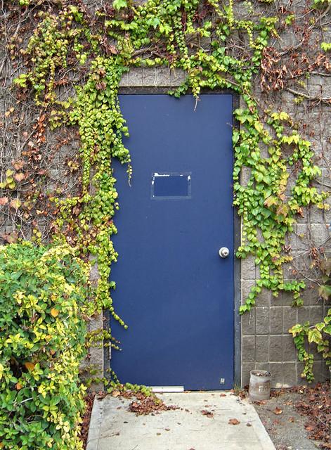 Blue doorway