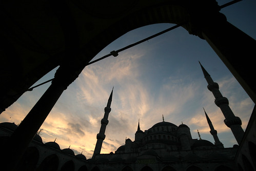 Sunrise Blue Mosque (Sultan Ahmed Mosque), Istanbul Turkey
