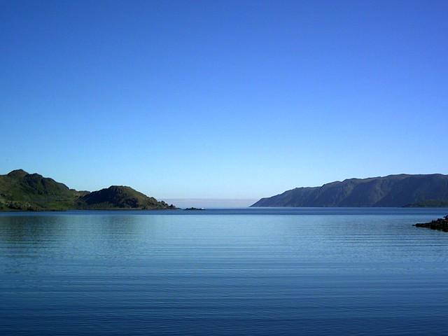 fjord in mageroya,norway