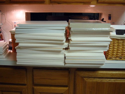 Stacks of foam board | by cybertoad
