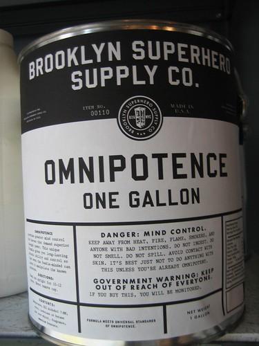 omnipotence | brooklyn superheroes store