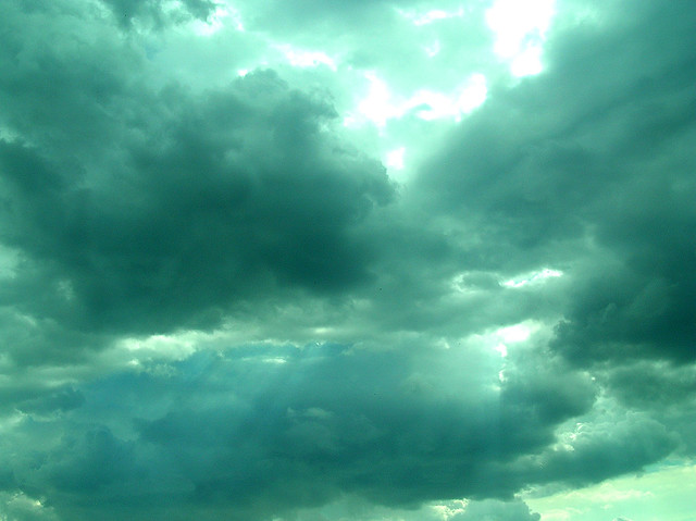 teal clouds flickr photo sharing