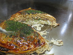 fried food(0.0), fish(0.0), produce(0.0), breakfast(1.0), food(1.0), dish(1.0), cuisine(1.0), okonomiyaki(1.0),