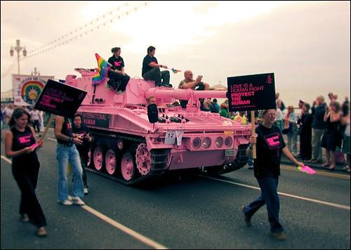 gay pride - amnesty international pink tank
