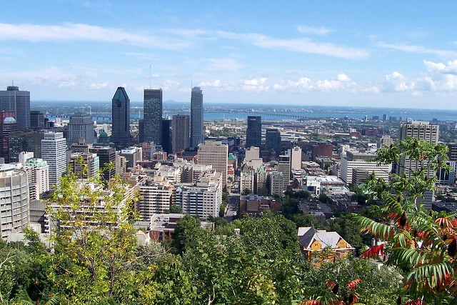 View from top of Mont-Royal in Montreal by CC user aschaf on Flickr