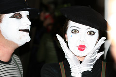 face, mime artist, head, woman, female, person,