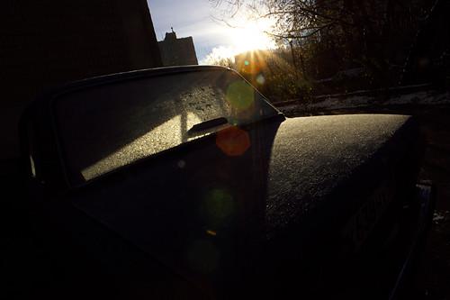 car sunrise russia moscow lada 日出 车 俄罗斯 莫斯科 拉达