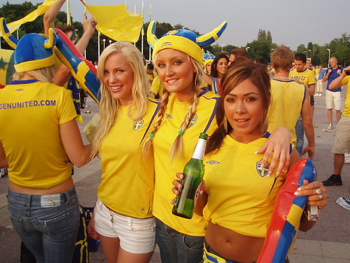 Swedish football fans in Berlin