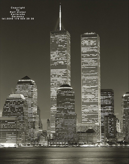 The World Trade Center By Night Photographed From