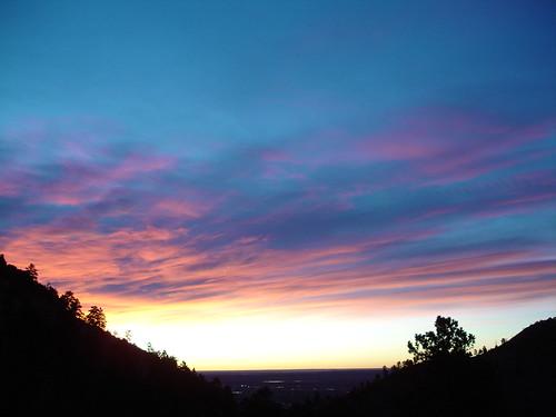 sunrise boulder