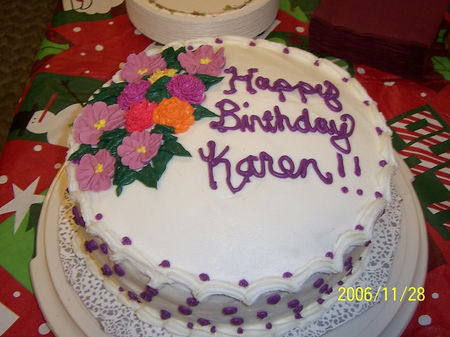 Karen s birthday cake Flickr - Photo Sharing!