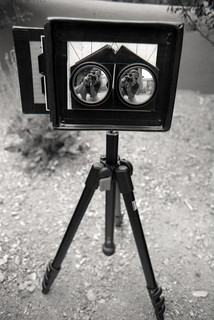 Custom-built 4 x 5 Large Format Stereo Pinhole Camera. *** stereo 3-d