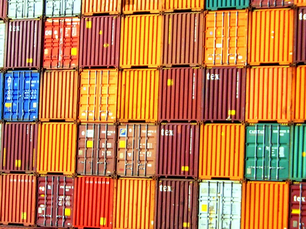 container wall ~  auckland docks