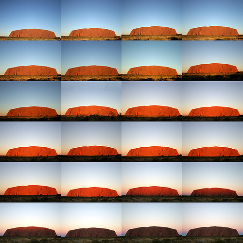 Sunset on Uluru