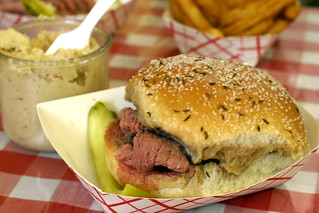 Beef on Weck - sandwich and horseradish | by nickgraywfu
