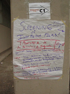indymedia screening at border social forum, 2006