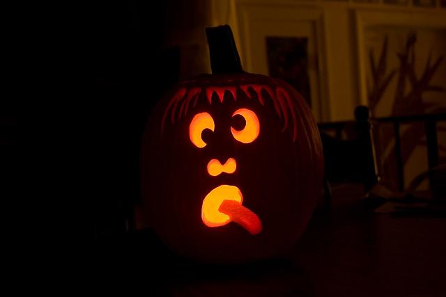 Jack-O-Lantern lit